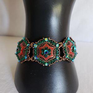Vintage Joan rivers bracelet and clip on earings